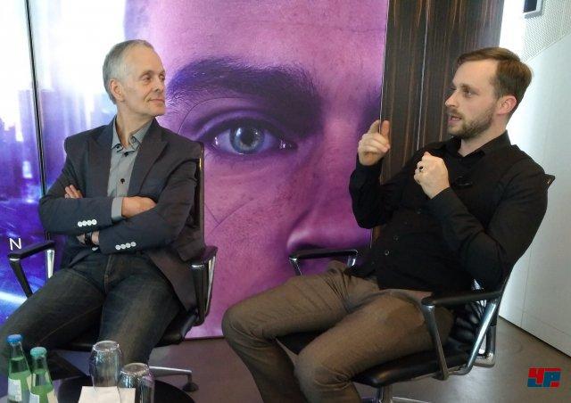 Fabian Westerheide und Andreas Brandhorst trafen beim Berliner Podiumsgespräch recht ähnliche Prognosen.