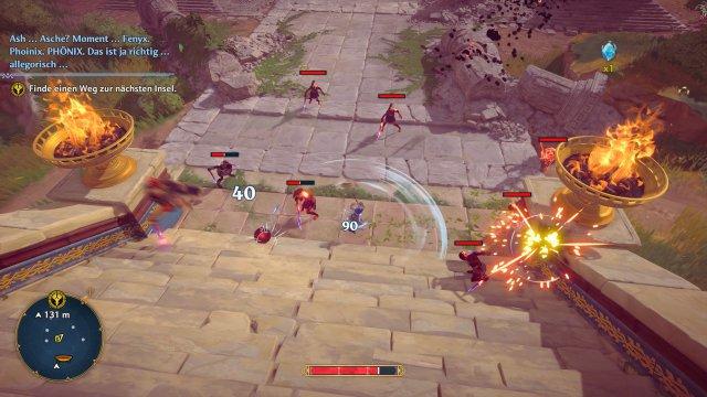 Kämpfe fühlen sich im dritten DLC weniger wuchtig und direkt an als im Hauptspiel. Und sie sind mangels Heiloption anstrengender.