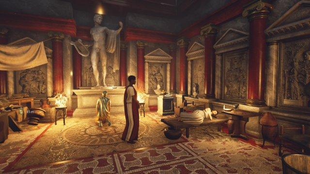 Die Innenräume zählen zu den optischen Highlights von  The Forgotten City - schaut euch gut um und lest alle Dokumente.