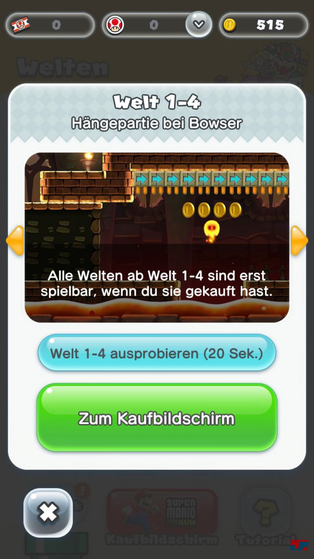 Screenshot - Super Mario Run (iPad) 92537682