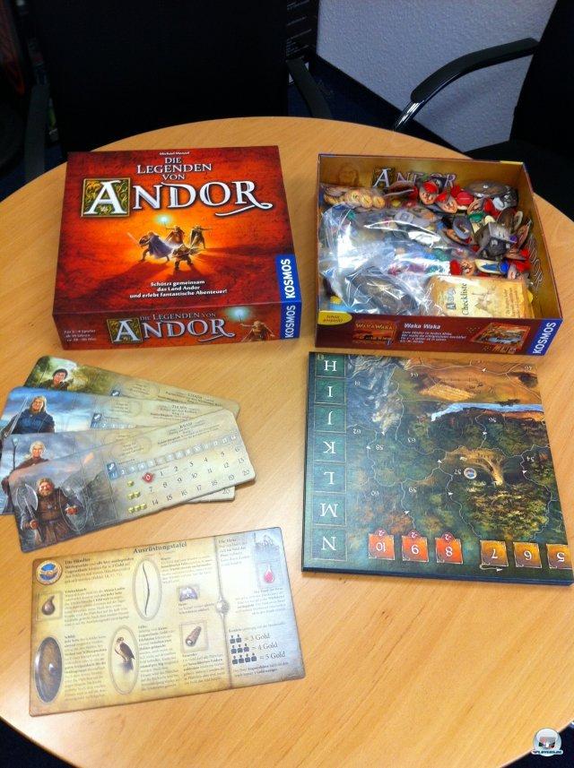 """""""Die Legenden von Andor"""" ist ein kooperatives Fantasy-Abenteuer für zwei bis vier Spieler. Es ist bei Kosmos komplett auf Deutsch erschienen und kostet knapp 30 Euro."""