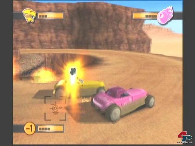 Aus dem Rennen geflogene Spieler können den anderen per Lenkrakete das Leben zur Hölle machen. (Xbox)