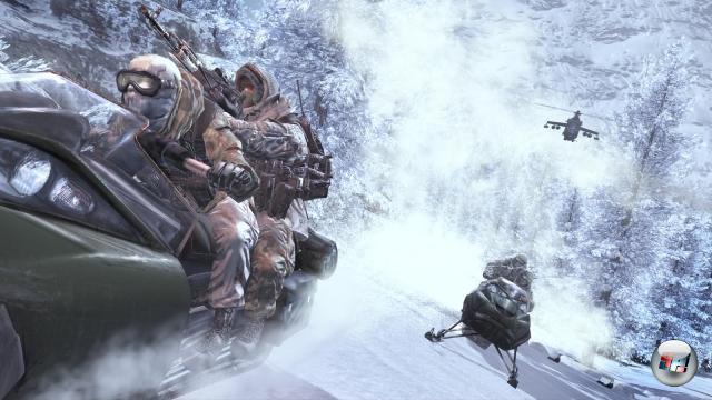 <b>Modern Warfare 2</b><br><br>Call of Duty 4 ist bis heute einer der bedeutendsten Ego-Shooter überhaupt; neben der fantasisch inszenierten Kampagne sorgt vor allem der innovative Mehrspielermodus unverhalten für Begeisterung. Der Nachfolger verzichtet auf den großen Namen im Titel - Entwickler Infinity Ward vertraut auch so auf die Zugkraft des Spiels. 1954198