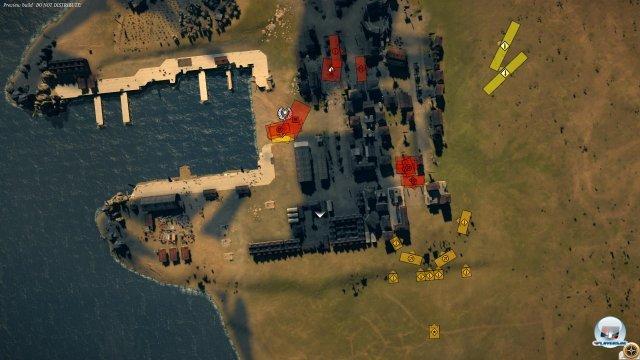 Neu ist die strategische Vogelperspektive: In einer Draufsicht erkennt man Truppen im kompletten Gelände als Quader inkl. Sichtlinien. Hier kann man ihnen auch Befehle geben.