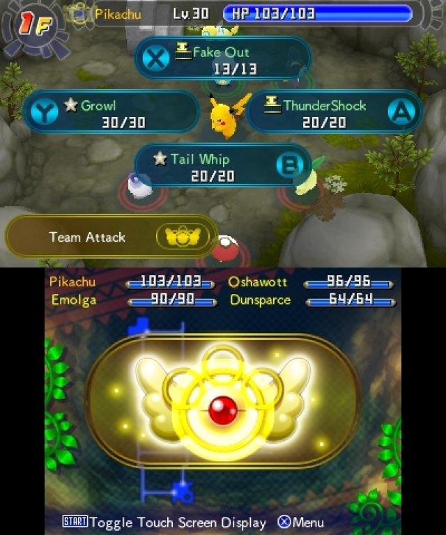 Jedes Pokémon verfügt im Kampf über vier Aktionsmöglichkeiten.
