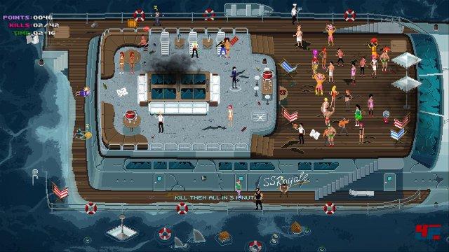 Auch auf hoher See setzt man dem Party-Treiben ein gewaltsames Ende.