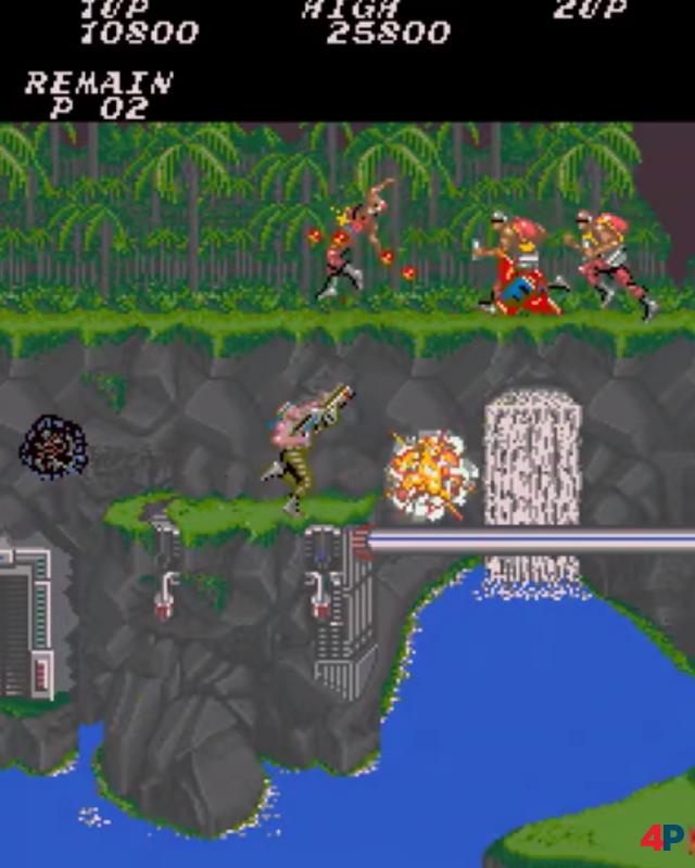 Konamis Contra ist ein Paradebespiel seitlich scrollender Run-and-Gun-Action - und als solche natürlich voller Knarren und Geballer. Auf dem NES hieß die Serie Probotector, menschliche Feinde wurden durch Roboter ersetzt.