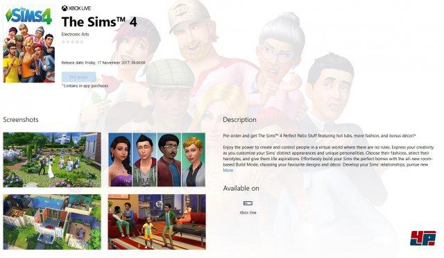 Screenshots aus dem Microsoft-Store