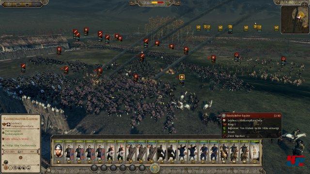 Episch: erneut führt man riesige Armeen mit zigtausend Soldaten ins Gefecht.