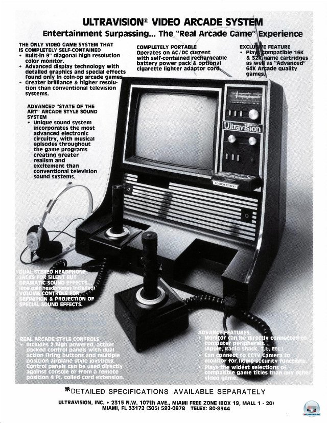 <b>Ultravision Video Arcade System</b><br><br>