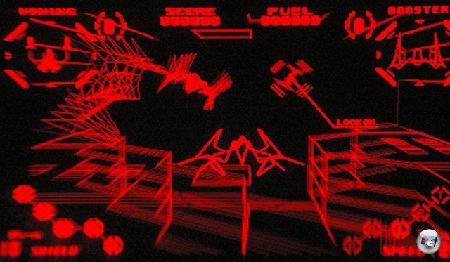 <b>Red Alarm</b> <br><br> Der von von T&E Soft entwickelte Rail-Shooter Red Alarm nutzt die Tiefenwirkung am sinnvollsten aus. Ähnlich wie in Star Fox fliegt man mit einem Gleiter in den Raum und ballert auf jede Menge aus Vektoren zusammengesetzte Kampfschiffe und Roboter. 2211713