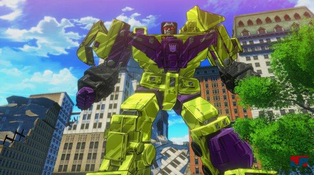 """Als Boss tauchen auch """"Combiner"""" wie Devastator auf."""