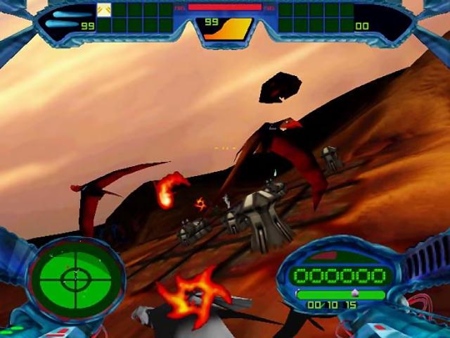 Die futuristische Flug-/Balleraction Scorched Planet war das erste Spiel von Criterion.