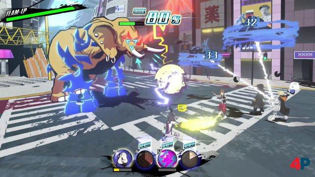 In den teambasierten Echtzeit-Kämpfen kontrolliert man die auf getragenen Pins basierenden Fähigkeiten aller Teilnehmer.