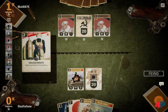 In der hinteren Nachschublinie liegen HQ und max. vier Karten. An die Frontlinie dürfen max. fünf Karten.
