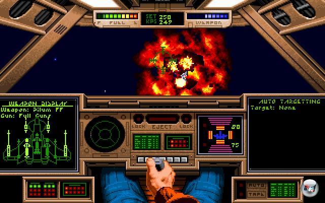 <b>Wing Commander</b><br><br>Das Genre der Space Opera ist ohnehin seit vielen Jahren extrem unterrepräsentiert. Zwar flackert das Licht der Hoffnung immer wieder mal auf, zuletzt in Form von Freelancer oder Darkstar One, aber einfach nicht oft genug. Es wird Zeit, dass der große Herzog wiederkehrt - aber bitte in pompöser, mächtiger Form. Und nicht als »Schnell Kasse machen, bevor es einer merkt«-Dreck wie Wing Commander Arena. 1966068