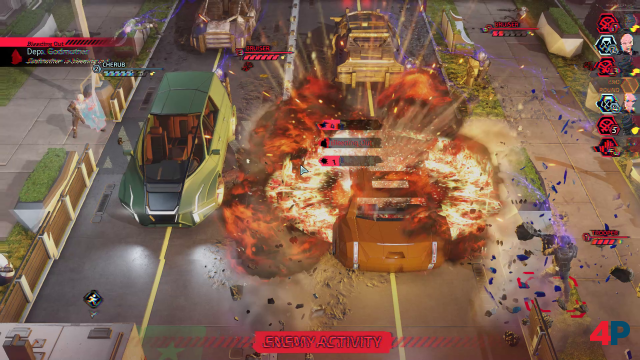 Explosive tactical battles: Chimera Squad takes over the essentials of the main series.