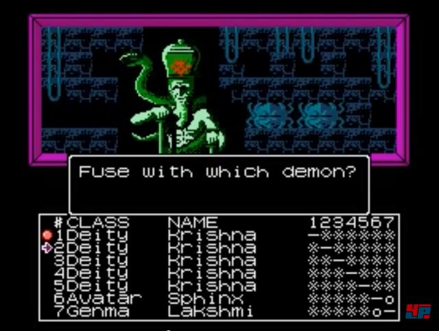 Dämonen können miteinander zu einem komplett neuen Dämon fusioniert werden.