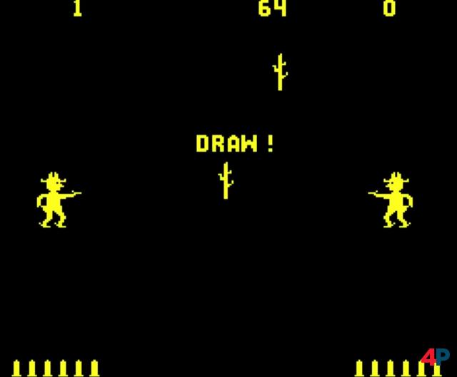 Gun Fight: Schon 1975 wagte sich Taito an tödliche Cowboy-Duelle. In Japan hieß das Spiel übrigens Western Gun.