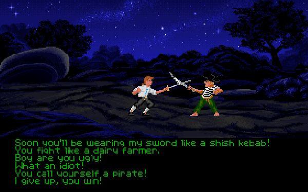 The Secret of Monkey Island<br><br>Geht mal raus auf die Straße, sucht euch jemanden, der so aussieht, als hätte er schon mal Adventures gespielt, und fragt ihn, was sein Lieblings-Abenteuer ist: Wetten, dass die Antwort in 90% der Fälle ein aus dem Brustlaut der Überzeugung gedonnertes »Monkey Island!« sein wird? Mit den 1990er Abenteuern um den dusseligen Piratenanwärter Guybrush Threepwood, der seinen Namen einem Grafikformat verdankt, sorgte Lucasfilm Games mal wieder für mittelschwere Sensationen in VGA: Eine brillante Präsentation mit beschwingter Musik und skalierbaren Sprites, die für ein bis dato ungewohntes Gefühl von grafischer Tiefe sorgten, die legendären Beleidigungsduelle und herrlich viele Insiderjokes (Stichwort für Kenner: »Disk #23«) machten aus dem Spiel einen Instant-Hit. Übrigens: Hat schon einer rausgefunden, was nun eigentlich das Geheimnis von Monkey Island ist? 1718662