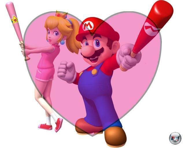 <b>Mario und Peach</b><br><br>Was tut Mario nicht alles für sie? Er springt über Lavagruben, weicht gut gezielten Hämmern aus, schmeißt gehörnte Feuerspuckbiester durch die Gegend, bekämpft grimmige Sonnen, schlüpft in behämmerte Bienchen-Kostüme - das Leben eines Klempners ist kein einfaches, wenn man eine waschechte Prinzessin beeindrucken will. Und dann noch dieses dauernde Retten! Immerhin gibt's gelegentlich Küsschen oder auch einen Kuchen dafür. Auch wenn es nach 24 Jahren des Herumturtelns wohl langsam mal Zeit für einen Ehevertrag wäre... 1909378