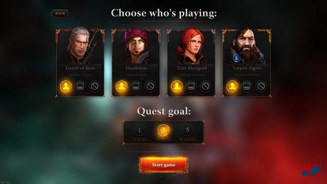 Welcher Held darf es sein? Vier bekannte Charaktere stehen zur Wahl.