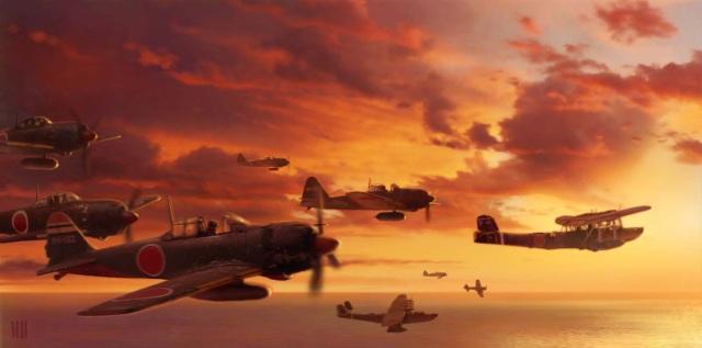 Medal of Honor: Rising Sun (2003) <br><br> Dem Zweiten Weltkrieg bleibt man hier zwar weiterhin treu, allerdings verlegt man das Geschehen in den Pazifik, wo die US-Armee gegen Japan kämpft. In der Rolle von Corporal Joseph Griffin erlebt man auf PS2, Xbox und GameCube u.a. den Angriff auf Pearl Harbor, schlägt sich mit ihm durch den dichten Dschungel oder begibt sich auf die Philippinen, Burma & Co. Während bis zu diesem Zeitpunkt vornehmlich Lost-Komponist Michael Giacchino für den passenden Soundtrack sorgte, durfte sich hier erstmals Christopher Lennertz als Musikmeister versuchen.   2167433