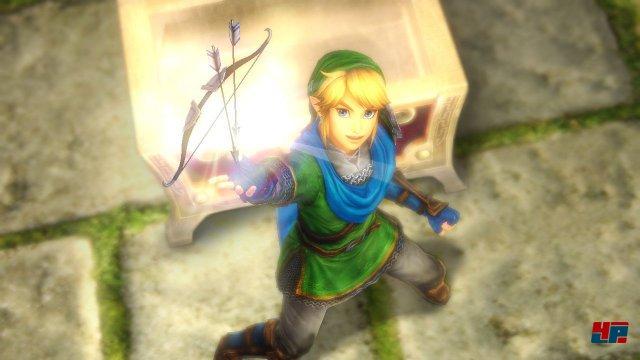 """Fast wie in einem """"richtigen"""" Zelda-Abenteuer: Ein Held, eine Truhe, ein Bogen."""