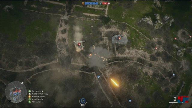 Einige der freispielbaren Mörser können den Panzern ordentlich zusetzen: Einfach Ziel auf der Karte markieren und es rumst. Andere Spieler sollten währenddessen allerdings die Ziele markieren.