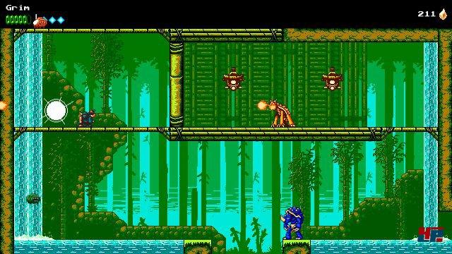 Nicht nur die Kulisse scheint inspiriert von Ninja Gaiden oder Shinobi, auch das Grundkonzept orientiert sich an klassischen Action-Plattformern.