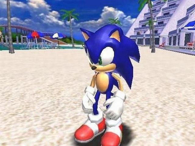Sonic the Hedgehog / Sonic Adventure <br><br> Zwar muss sich Sonic immer wieder mit den fiesen Plänen von Dr. Eggman herumschlagen und dabei zur Rettung der Welt auch Abstecher in kalte Industriestädte in Kauf nehmen, doch dafür treibt es den flotten Igel auch oft genug an den Strand und schönste Sonnenschauplätze. Schon die Green Hill Zone der Prmiere ist ein Garant für gute Laune, die von der Emerald Coast aus Sonic Adventure auf der