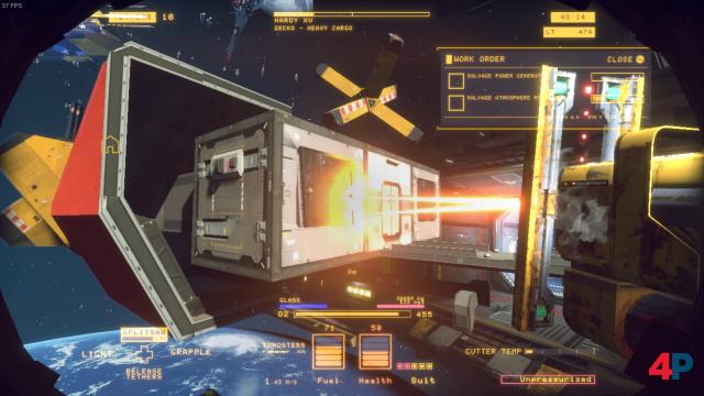 Im schwerelosen Orbit Raumschiffe verschrotten: ein Handwerk als Videospiel.