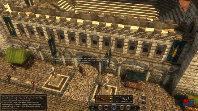Das Spiel entführt in eine Low-Fantasy-Welt, die vom Fall des Römischen Reiches inspiriert wurde.