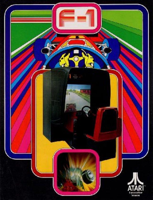 F-1 (Arcade. Atari, 1976) <br><br> F-1 ist eines der ersten Spiele rund um die Formel Eins. Der Automat mit Lenkradsteuerung raste 1976 in die Spielhallen und setzte auf eine Projektionstechnologie mit vorgerenderten Animationen. Die Fahrzeuge (einschließlich des Spieler-Boliden) waren lediglich statische Objekte, die ebenfalls auf den Bildschirm projiziert wurden. Der Titel wurde von Namco entwickelt und von Atari vertrieben. 2270197
