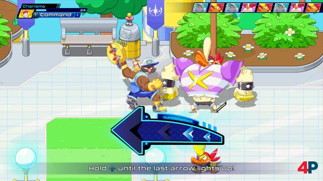 In den rundenbasierten Kämpfen kann man seine Aktionen durch Echtzeit-Minispiele verstärken.