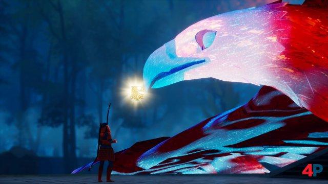 Schon bald begegnet sie dem Geist der Adlermutter.