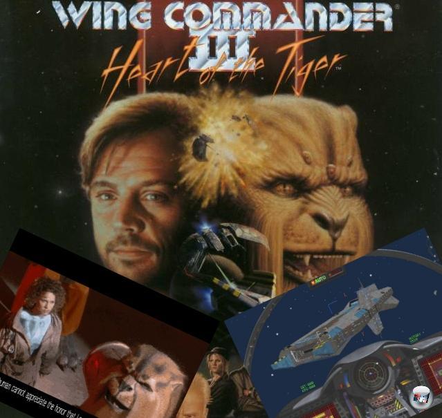 <b>Wing Commander 3: Heart of the  Tiger</b> (Dezember 1994)<br><br>Nach Wing Commander 2 hatte Chris Roberts erstmal die Nase voll vom Weltall - das Resultat dieser »Mal was anderes machen«-Phase war das grandiose Strike Commander, unser Oldie des Monats im Mai. Außerdem war seiner Ansicht nach die Technik noch nicht so weit, wie er sich das für einen echten Wing Commander-Nachfolger vorstellte. 1994 war die Zeit reif - und Wing Commander 3 schlug ein wie eine Temblor-Bombe! Echte Polygongrafik, wahlweise in SVGA, die heißesten Raumgefechte diesseits von Proxima Centauri und vor allem echte Schauspieler, welche die fesselnde Story transportierten - darunter so berühmte Namen wie Mark Hamill, Malcolm McDowell und John Rhys-Davies. Die Geschichte, die sich darum drehte, dass der Krieg verdammt schlecht für die Konföderation läuft, so dass nur noch ein Verzweiflungsschlag gegen den Kilrathi-Heimatplaneten den Sieg bringen kann, ließ dem Spieler immer wieder Wahlmöglichkeiten, mit denen man u.a. entscheiden konnten, welche Crew-Mitglieder starben und mit welcher Frau Blair den Abspann teilte. Übrigens war die deutsche Fassung des Spiels geschnitten: In der Szene, in der Blairs Freundin Angel vom Kilrathi-Prinz Thrakath getötet wird, sah man hierzulande nicht, wie die von seinen Klauen aufgeschlitzt wurde. 2160133