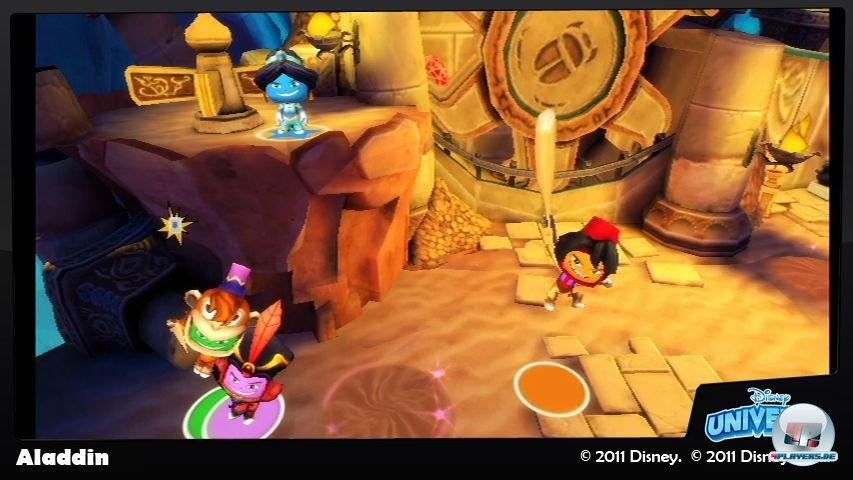 Bis zu vier Spieler können in den an Disney-Filme angelehnten Abschnitten ihr Unwesen treiben.