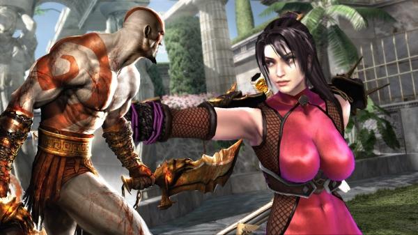 Kratos<br><br>Der Endgegner: Zwei mit langen Ketten an die Arme geschmiedete Chaosklingen, jede Menge Magie, ein rot-weißes Ganzkörper-Tatto sowie ein Gesichtsausdruck, der auch einen Dr. Doom dazu bringen würde, eine Entschuldigung zu murmeln, ein hilfloses Lächeln aufzuschrauben und den Raum langsam in Richtung Tür zu verlassen. Bonusfeature: Er hat mit Taki und Ivy gleichzeitig Sex, um Lebensenergie nachzutanken. 1742283