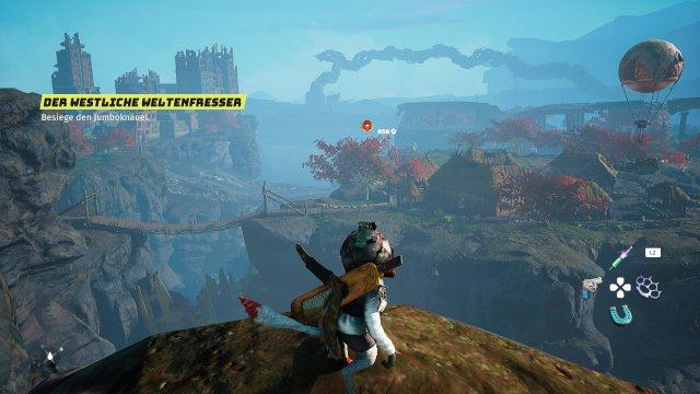 Interessante Aussicht: Wie auch in Zelda: BotW oder Immortals: Fenyx Rising bietet Biomutant schöne Ausblicke - da möchte man gleich die Welt erkunden.