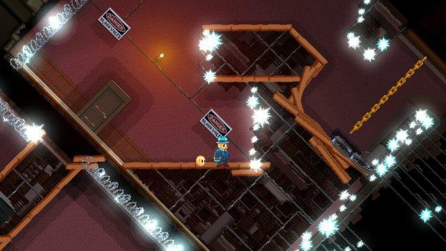 Plattform-Herausforderung und Gehirnverdrehung - geht Horace die Wand hoch, dreht sich auch die Spielperspektive.