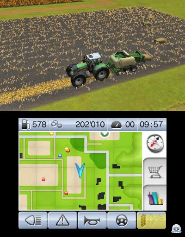 Screenshot - Landwirtschafts-Simulator 2012 3D (3DS)