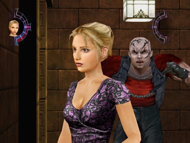 Buffy <br><br> Schon in der gleichnamigen TV-Serie ist Buffy der Schrecken aller Vampire und Dämonen, doch auch im dazugehörigen Videospiel jongliert die toughe Blondine mit Pflöcken. Zwar durfte aus lizenzrechtlichen Gründen weder Sarah Michelle Gellar als Polygonfigur verarbeitet noch deren Stimme benutzt werden, aber trotzdem kann die Jägerin auch als Videospiel-Heldin überzeugen.  2147023