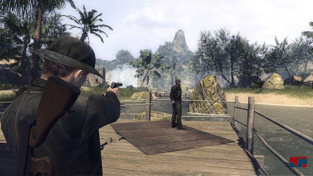 Die Schussmechanik ist unter aller Kanone und wird durch die schwache Technik zusätzlich ausgehebelt.