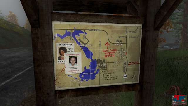 Praktisch: Landkarten geben einen Überblick über die nahe Umgebung.