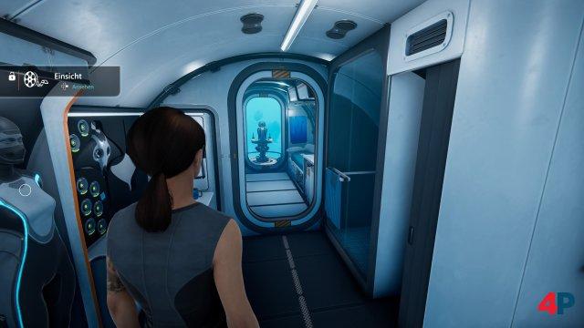 Zwischen den Missionen: Im Forschungs-U-Boot wird die Story vorangetrieben.