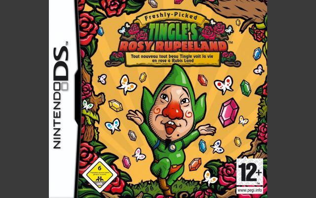 Tingle's Rosy Rupeeland (2007)<br><br>Zum Abschluss noch den gegenwärtig  tiefsten Tiefpunkt jeder Coverdesigner-Karriere: Freshly Picked: Tingle's Rosy Rupeeland. Als ich dieses Spiel letztes Jahr in Japan sah, war mein erster Gedanke »Japaner. Haben alle 'nen Knall!«. Auf der anderen Seite beweist Nintendo wirklich großen Mut - auch wenn das hiesige Cover nicht ganz so grell grün ist wie das Original. 1724126