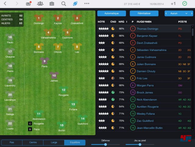 Screenshot - Pro Rugby Manager 2015 (iPad) 92486513