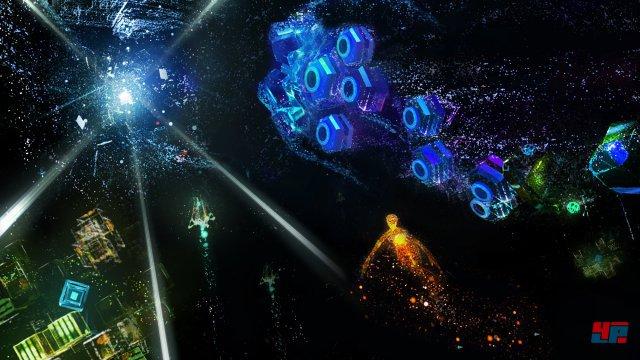 Die neue Area X besteht beinahe komplett aus funkelnden Partikeln.
