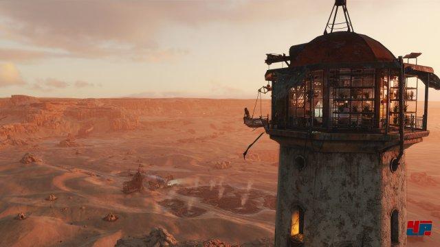 Gerade an höher gelegenen Orten wie einem Leuchtturm genießt man eine phänomenale Aussicht, auch wenn die grafischen Details in der Distanz spürbar abnehmen.